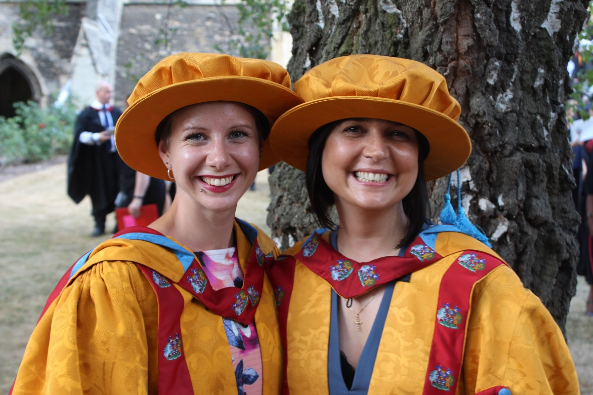 PhD graduation 2018 Jane Robb and Claudia Carvalho