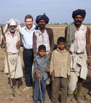 Professor John Morton in the field with pastoralists in Gujarat