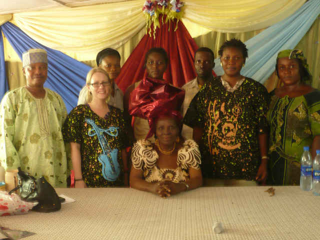 Chief Bisi Ogunleye COWAN founder (centre) and staff with the NRI Gender and Diversity Audit Team
