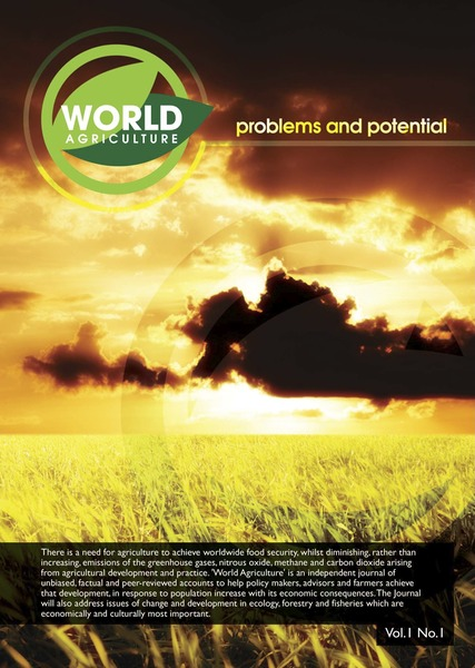 World Agriculture cover January 2010