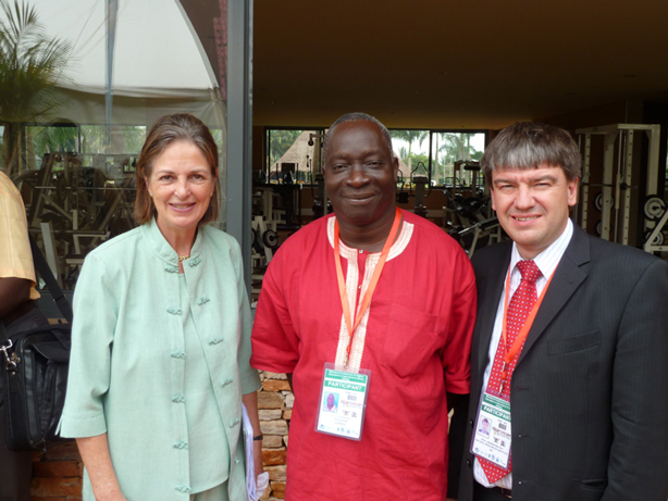 Baroness Tessa Blackstone (Vice Chancellor of the University of Greenwich), Professor Adipala Ekwamu (Executive Director of RUFORUM) and Professor Andrew Westby (Director of NRI)