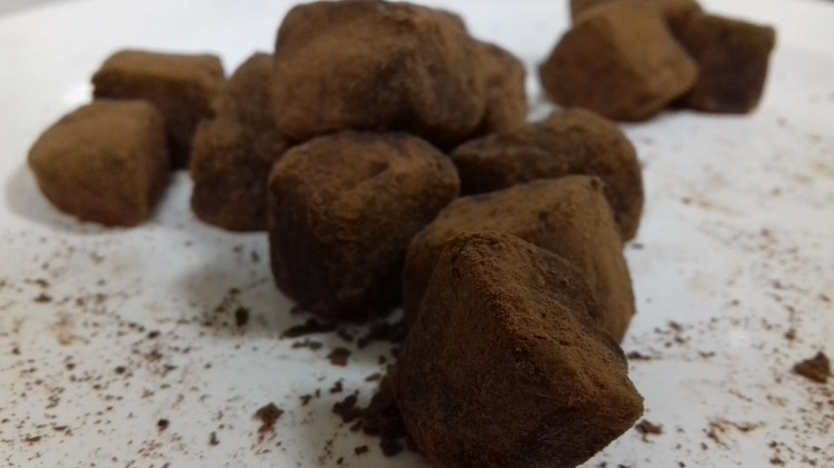 Chocolate truffles made by NRI's Julie Crenn